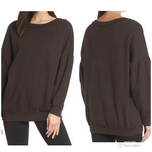 Free people make it count pullover faded black xs